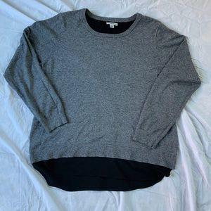 Croft and Barrow Sweater with Chiffon Detail Hem